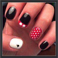 nail art design gallerynail designs for short nails step by step essie nail stickers nail art sticker stencils essie nail stickers Minnie Mouse Nails, Mickey Nails, Mickey Mouse Nail Art, Birthday Nail Designs, Birthday Nails, Card Birthday, Disney Nail Designs, Nail Art Designs, Nails Design