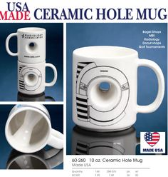 Unique ceramic Hole Mug