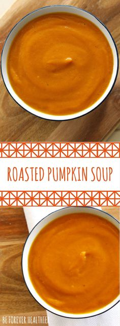 A healthy and delicious roasted pumpkin soup