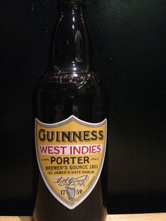 Guinness - West Indies Porter. 500ml, 6%.