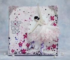 Goodbye from Anna - Aka Eye Products, 3rd Eye, Ballerina, Stamping, Stencils, Mixed Media, Canvas Art, Eyes, Crafts