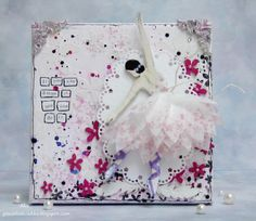 http://poczekalniaaka.blogspot.com/2014/04/pozegnanie-z-dt.html canvas by Aka with 3rd Eye stamps, stencils, chipboards ♥ 3rdeyecraft.com/ ♥ #stamping #stamp #craft #chipboards #stencils #ballerina