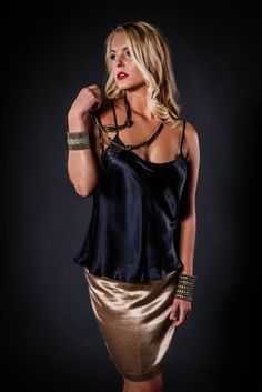 Tailored with a unique blend of hemp and silk charmeuse, this skirt glistens from the silk while the hemp provides body hugging support and durability. Feminine without the synthetics. Satin Top, Satin Skirt, Silk Satin, Dress Skirt, Sexy Older Women, Sexy Women, Silk Charmeuse, Satin Blouses, Pretty Outfits