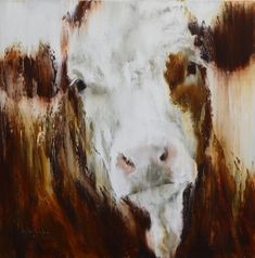 Norma by Elsa Sroka Oil ~ x Nature Animals, Farm Animals, Cow Canvas, Bug Art, Cow Painting, Wild Nature, Western Art, Animal Paintings, Figurative Art