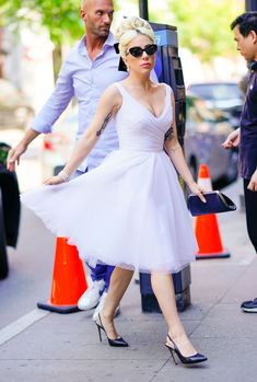 87200b38cd634 Lady Gaga Just Wore Three Insanely Different Looks in One Day in NYC