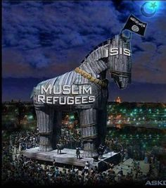This photo depicts exactly what is happening not only in the USA but around the world, and the fuel that runs the Trojan horse, Is the liberal's stupidly...