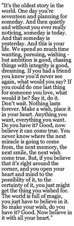 All time favorite One Tree Hill quote. From the series finale. Too perfect. ❤️❤️