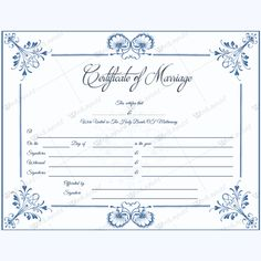 Marriage Certificate 05 - Word Layouts Wedding Certificate, Marriage Certificate, Handfasting, Certificate Templates, Layouts, Words, Gold Wedding, Tattoo Ideas, Rose Gold