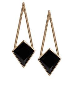 Image 1 ofASOS Geo Triangle Earrings