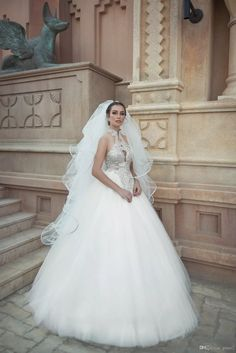 Crystals Wedding Dresses 2017 New Arrival Oved Cohen with Free Veil And Sweep Train Beading Bling Bling Ballgown Robe De Mariage Custom Made Vestidos De Novia Wedding Dress 2017 Robe De Mariage Online with $192.0/Piece on Grace2's Store | DHgate.com