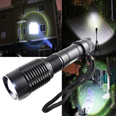 Super Bright 2000 Lumens Zoomable 5 Mode T6 LED XL Flashlight