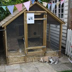 Having rabbits as a pet is quite easy, since they take very little to eat and can groom themselves. If you ever think of raising rabbits; then you'll need to take a look at these DIY rabbit hutch plans & ideas, as your very first start. Rabbit Shed, Rabbit Hutch Plans, House Rabbit, Rabbit Hutches, Pet Rabbit, Rabbit Cage Diy, Diy Bunny Cage, Rabbit Cages Outdoor, Outdoor Rabbit Hutch