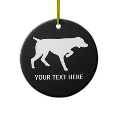 German Shorthaired Pointer silhouette Ornament