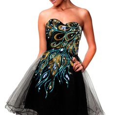 Stock Sweetheart Peacock Tulle Homecoming Mini Short Prom Gown Cocktail Dresses