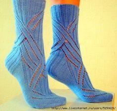 описание вязания ажурных носок