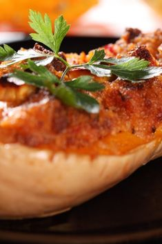 Stuffed butternut squash is a great budget-busting, vegetarian meal...