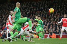 Arsenal' 3 Sunderland 1: Olivier Giroud, centre, puts Arsenal back into the lead from almost the same spot as he had earlier scored an own goal.