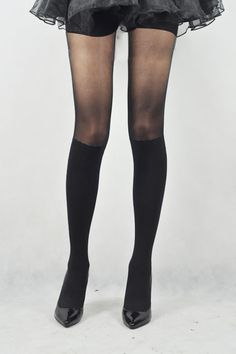 Mimetic Buskin Jacquard Weave Tights