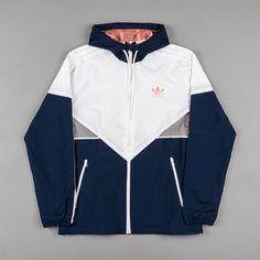 Adidas Premiere Windbreaker Jacket - Navy / White / Sun Glow