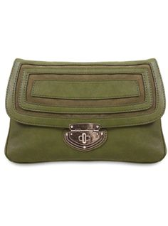 """Melie Bianco """"Janet Envelope Clutch with Geometric Suede Accents"""" $48"""