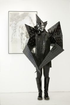 Ethan Chau from Hong Kong dons Gareth Pugh's 'Stealth Bomber' suit - SHOWstudio - The Home of Fashion Film