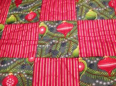 Christmas Quilted Table Topper by DawnsQuiltsandCrafts on Etsy