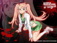 Anime Highschool Of The Dead  Saya Takagi Papel de Parede