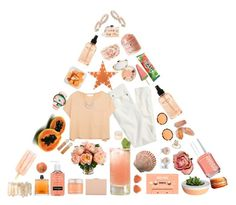 """Orange white peach"" by stelbell ❤ liked on Polyvore featuring Essie, Neutrogena, philosophy, J.Crew, Elizabeth and James, BERRICLE, COSTUME NATIONAL, Kyme, tarte and Dot & Bo"