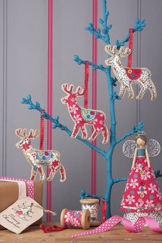vintage fabric reindeers by the contemporary home | notonthehighstreet.com