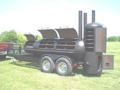 NEW Custom BBQ pit Charcoal grill Smoker style Trailer   Business & Industrial, Restaurant & Catering, Commercial Kitchen Equipment   eBay!