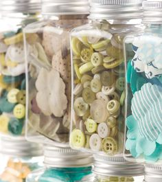 Button Jar for Laundry Room