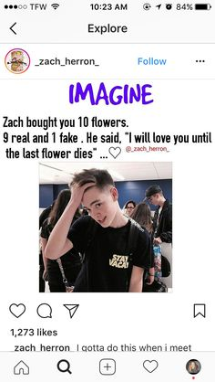 """Imma do this when I meet them I'll be like. """"Imma love you till this flower dies.""""<<< me 2 but to jonah my rice lol Future Boyfriend, To My Future Husband, Why Dont We Imagines, Why Dont We Band, Boy Bands, Man Band, Las Vegas, Zach Herron, Jack Avery"""