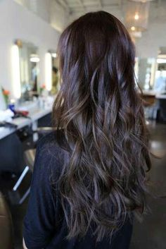 Long dark hair.....for summer....bye bye high lights....hello black beauty :-)