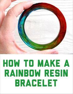 Resin Obsession blog:  Make a rainbow resin bangle bracelet