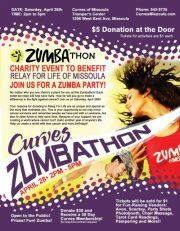 Do you Zumba? Curves Missoula is hosting a Zumbathon this Saturday. Besides 3 hours of Zumba they will also have chair massage, tarot card reading, the Party Shots Photobooth Rental, Gem Designs, Scentsy, Avon, and much more!  https://www.facebook.com/events/329244583791585