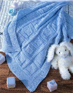 Cuddle Up Baby Knit Afghan ePattern