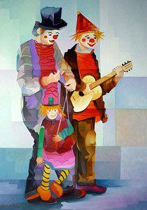 Dois Palhaços (110x80) - Damiao Martins