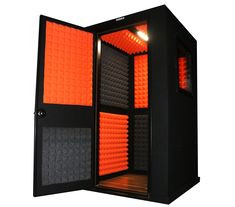 We are LA Vocal Booths! Based in Los Angeles, CA, we specialize in custom built vocal booths and sound isolation products for recording artists nationwide. Studio Room Design, Studio Shed, Home Studio, Recording Studio Setup, Recording Booth, Music Notes Decorations, Music Tattoo Sleeves, Sound Isolation, Sound Studio
