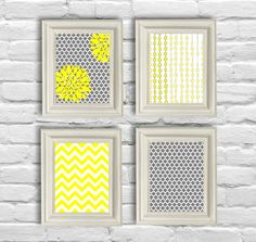 Digital Download No 186 Set of 4 8x10 Yellow and by OliveRuePress, $8.00