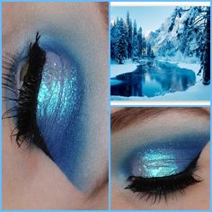 winter/ice/frozen makeup look @makeupbyeline http://themakeuphotspot.nl