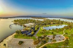 Great aerial shot of Paradise Point by Matt Aden Photography.