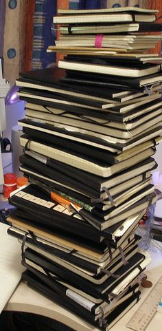 Holy smokes...that's a lot fo Moleskine loving!