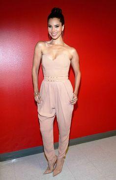 Who Wore It Better? Roselyn Sanchez vs. Khloe Kardashian in Elisabetta Franchi's Strapless Pleated Jumpsuit (via Bloglovin.com )