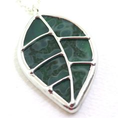 Leaf Stained Glass Pendant. Only $22, made to order!