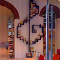 Treble clef book shelf