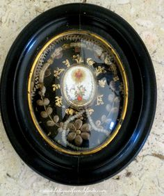 Antique French 19th Century Paperolle Reliquary to Multiple Saints & The True Cross www.fatiguedfrenchfinds.com