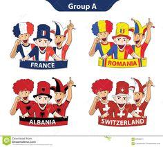 Gruppieren Sie Euro-2016 Vektor Abbildung - Bild: 65636971