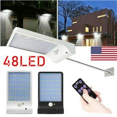 Solar Power PIR Motion Sensor 3 Modes Garden Street Lamp Outdoor Light - Ideas of Solar Lamp Dim Lighting, Outdoor Wall Lighting, Solar Lamp, Solar Lights, Touch Lamps Bedside, Small Lamp Shades, Tall Lamps, Design Logo, Garden Lamps
