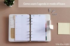 come utilizzare l'agenda Planning And Organizing, Planner Organization, Filofax, Getting Organized, Notebook, Bujo, How To Plan, Bullet Journals, Studio