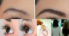 Keep this recipe before it gets lost: your hair, eyelashes and eyebrows will grow like never before! Eyelashes, Eyebrows, Make Beauty, Body Motivation, Tips Belleza, Face Skin, Rapunzel, Hair Goals, Natural Remedies